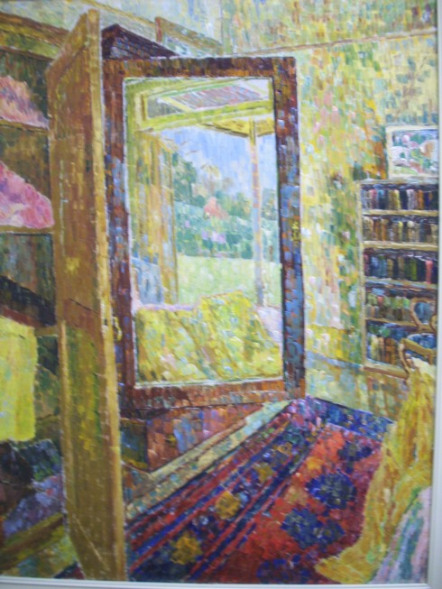 """Interior with Wardrobe Mirror"" (1955), Grace Cossington Smith"