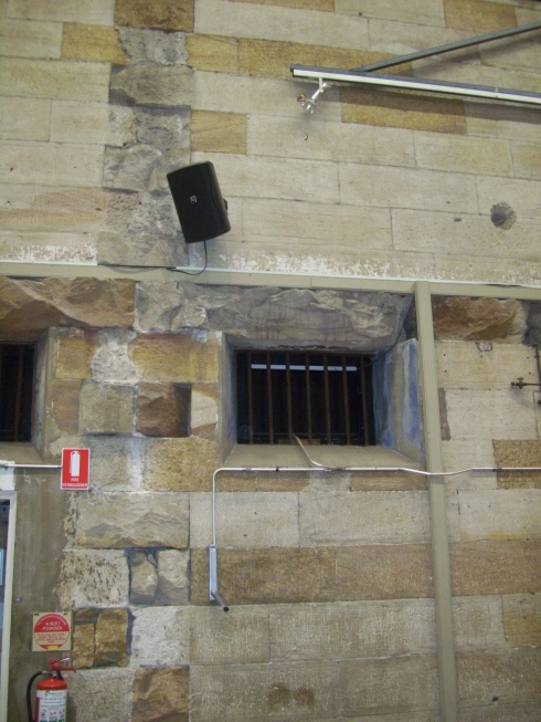 One of the original windows of the Darlinghurst Gaol, now part of the Cell Block Theatre.