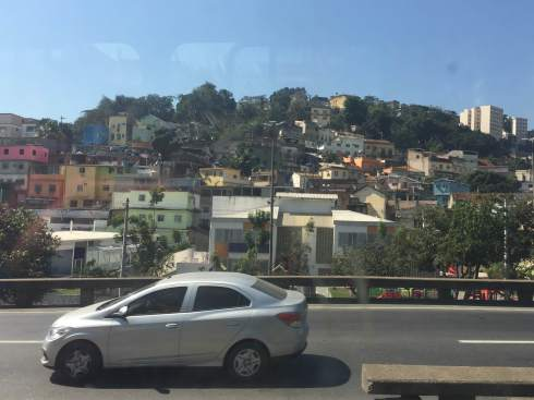 Picture of a favela as we drove past it