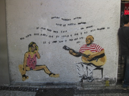 This mural was found  in Ipanema (which is where we are staying). It is of a famous Brazilian singer (I believe the man who made, the girl from Ipanema).